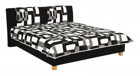 Čalouněná postel Karolína 160x200-matrace Alena/Mollino 660-16 - BLANAŘ