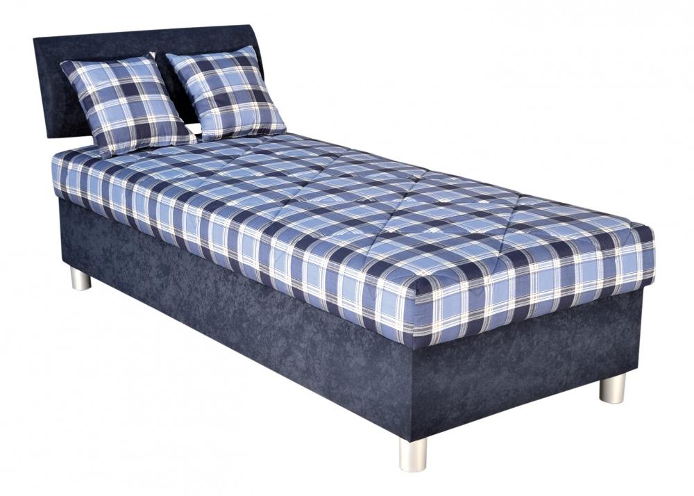 Čalouněná postel Skate 90x200 modrá - BLANAŘ