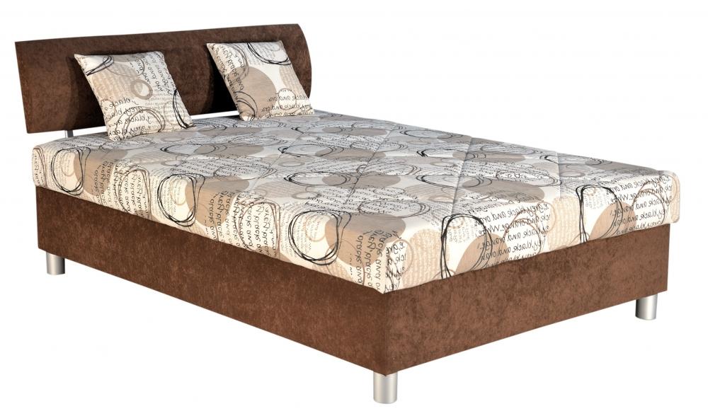 Čalouněná postel Skate 140x200 hnědá - BLANAŘ