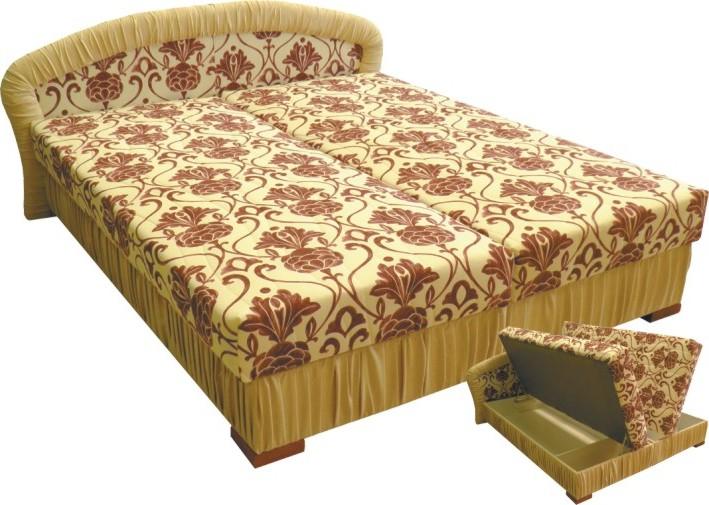 Čalouněná postel Monaco 180x200-matrace Ivana plus/hnědá - BLANAŘ