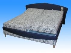 Čalouněná postel Karolína 180x200-matrace Alena/Tamar 9 - BLANAŘ