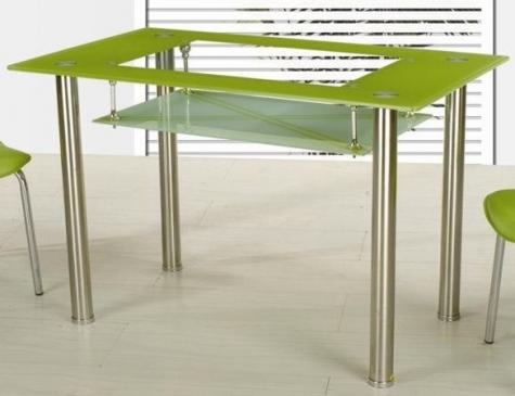 Jídelní stůl Cristal skleněný zelený - FALCO