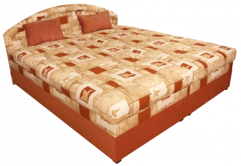 Čalouněná postel Karolína 180x200-PUR/Rita 73 - BLANAŘ
