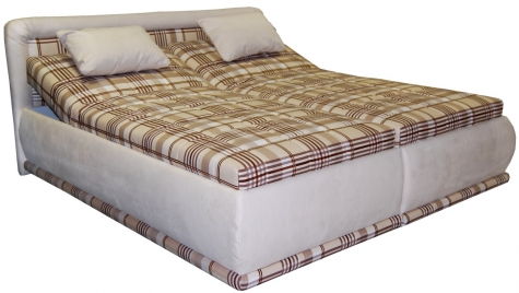 Čalouněná postel Karolína 180x200-PUR/Mollino 660-16 - BLANAŘ