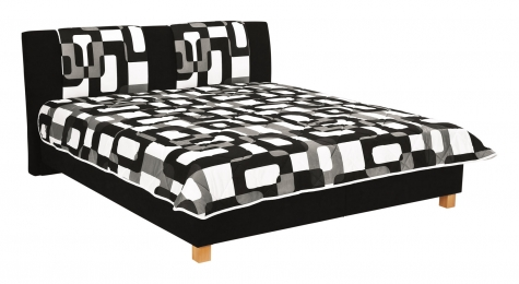 Čalouněná postel Karolína 180x200-matrace Alena/Rita 73 - BLANAŘ