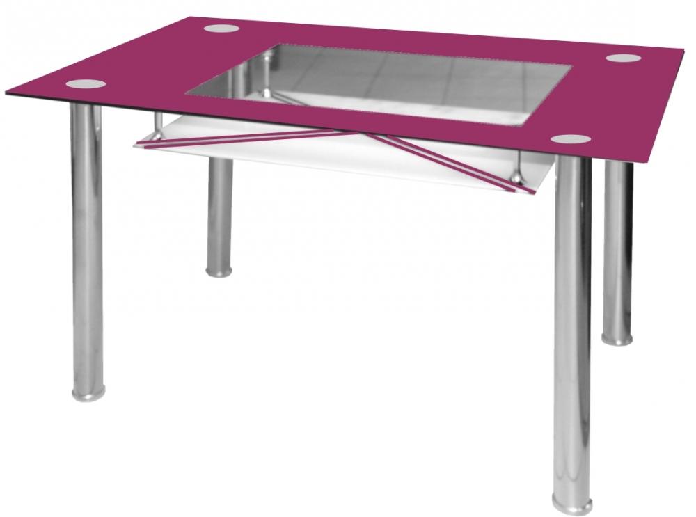 Jídelní stůl Cristal skleněný fialový - FALCO