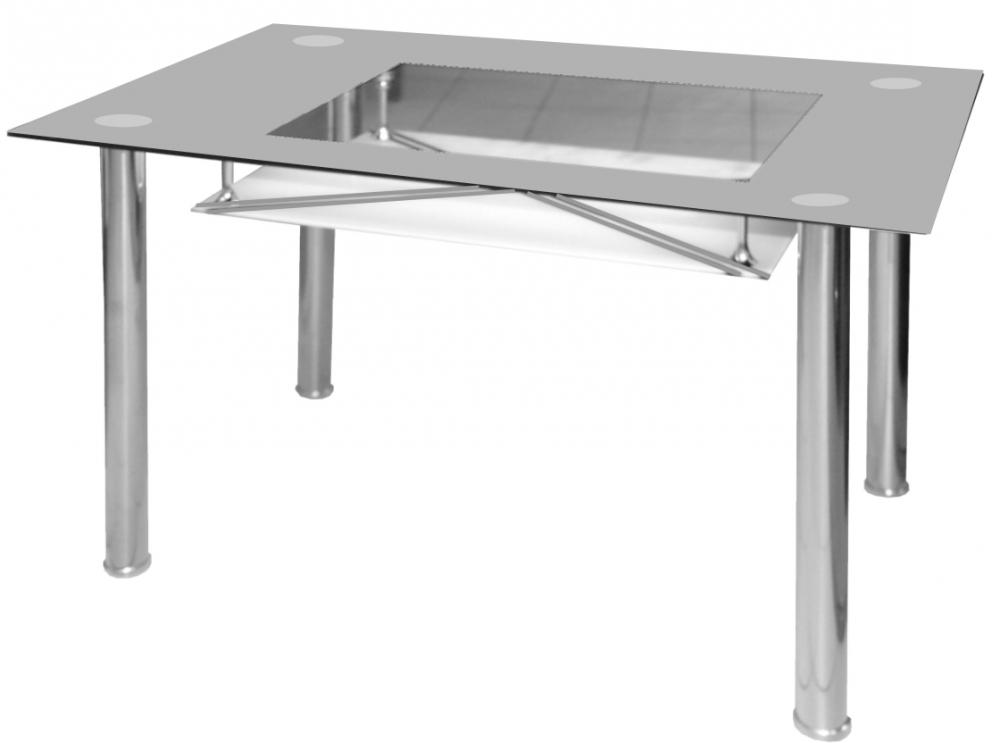 Jídelní stůl Cristal skleněný šedý - FALCO