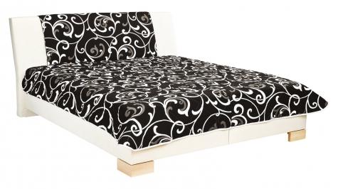 Čalouněná postel Karolína 160x200-matrace Alena/Rita 73 - BLANAŘ